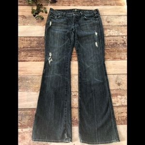 7 For All Mankind Lexie Petite A Pocket Flare Jean